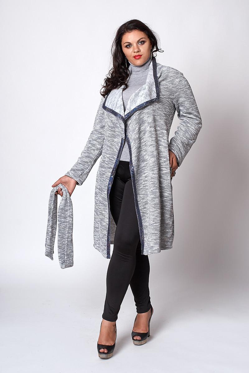 Модний жіночий кардиган білого кольору