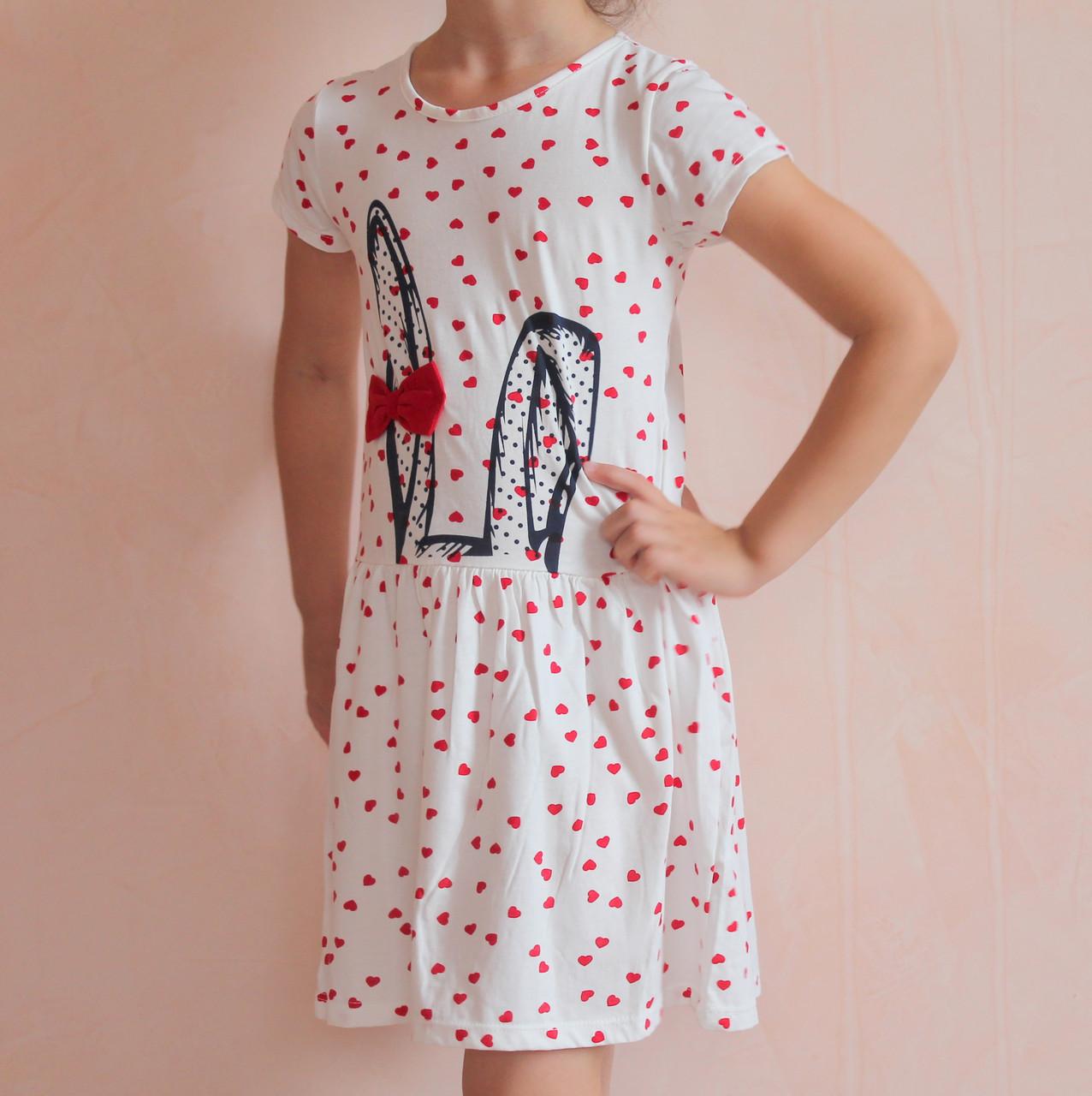 Сукня для дівчинки з коротким рукавом Вушка розмір 3-4 роки