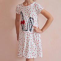 Сукня для дівчинки з коротким рукавом Вушка розмір 3-4 роки, фото 1