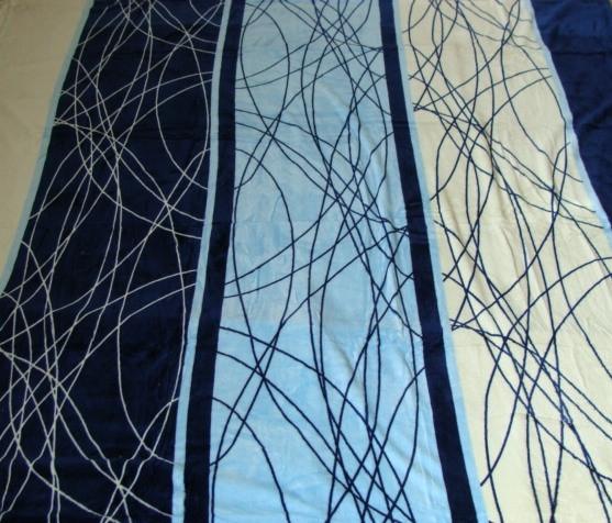 Микрофибровая простынь, плед, покрывало Elway евро Паутинка синяя