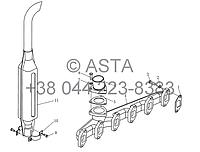 Глушитель YTO 1254, фото 1