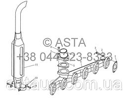 Глушитель YTO 1254
