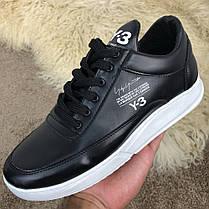 "Кроссовки Adidas Y-3 Bashyo ""Black/White"" (Черные/Белые), фото 3"