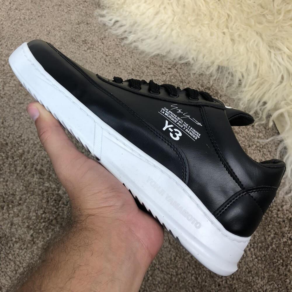 "Кроссовки Adidas Y-3 Bashyo ""Black/White"" (Черные/Белые)"