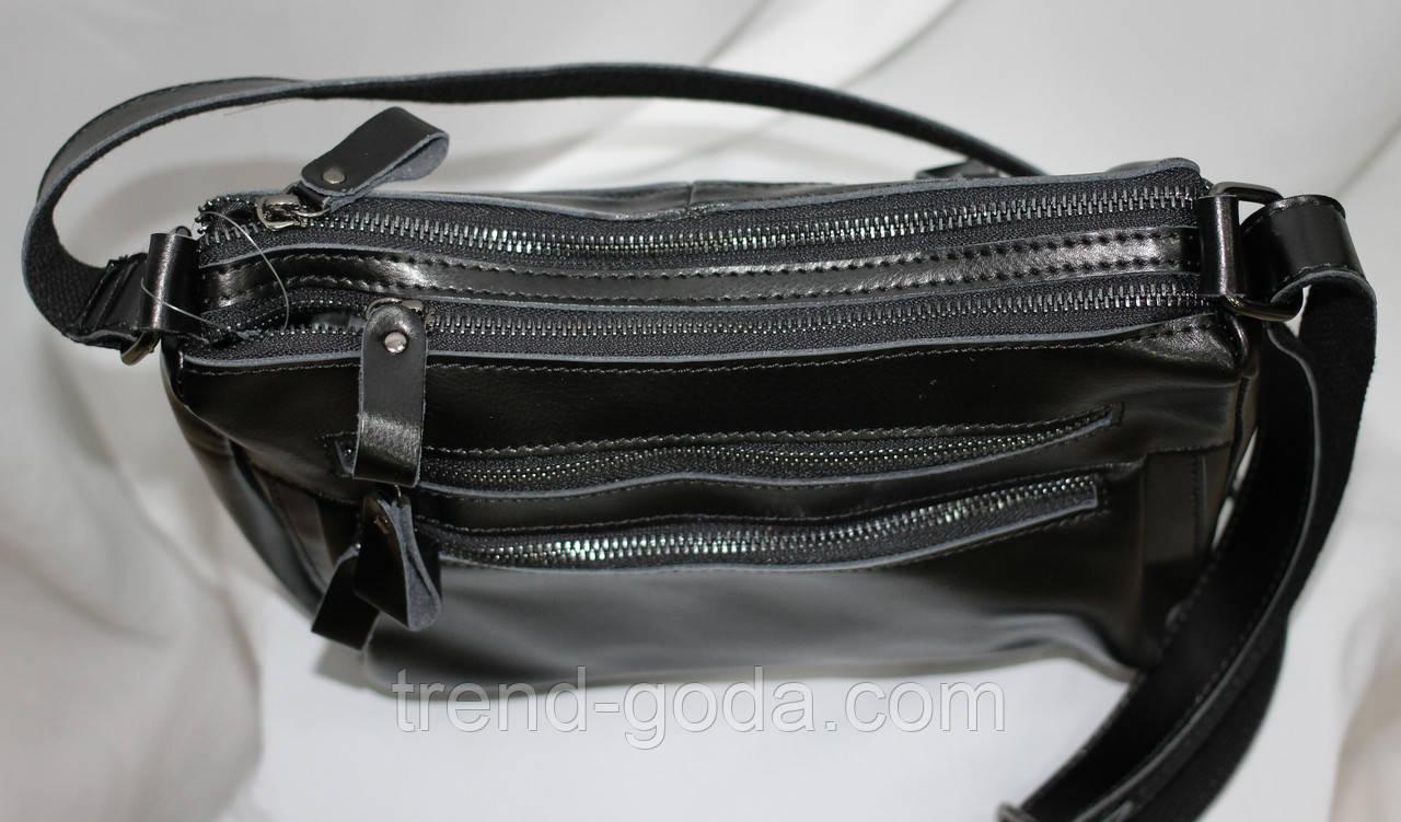 cae7a01ff9b0 Сумка женская черная, кожаная, молнии, цена 875 грн., купить в Виннице —  Prom.ua (ID#762993345)