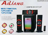 Акустика 3.1, USB FM DC-3311DC. Колонки 3.1