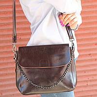 """Женская кожаная сумка """"Синди 3a Brown """", фото 1"""