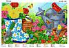 Схема для вышивки бисером В саду