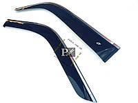 """Дефлекторы окон Honda Element (YH2) 2003-н.в. Cobra Tuning хром. молдинг - Ветровики """"CT"""" Хонда Элемент УН2"""