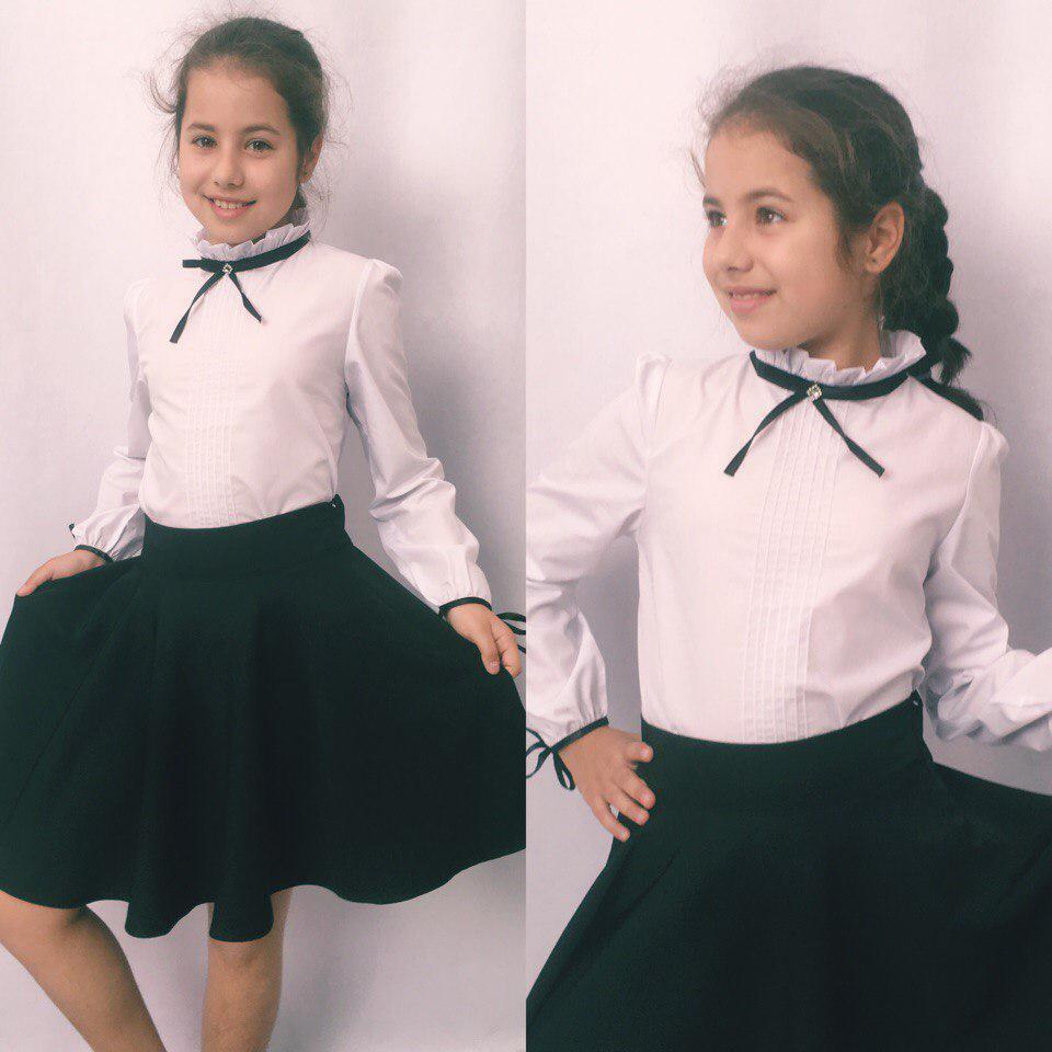 Стильная блузка подросток в школу