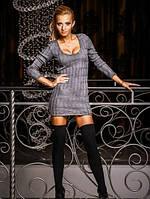 Платье С кожаными латками