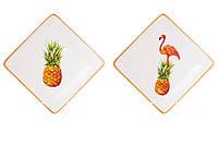 Тарелка квадратная Экзотик, 2 вида, 16см BonaDi 945-209
