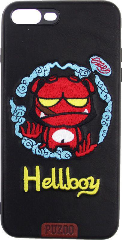 Чехол PUZOO TPU Stitchwork craft Hellboy iPhone 7 Plus/8 Plus Black (C