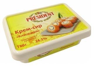 """Крем-сыр для суши  """"Президент"""", 180 г"""