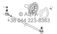 Колесо, рулевая тяга на YTO-X1254