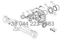 Коническая шестерня на YTO-X1254