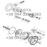 Универсальный шарнир, приводной вал и планетарный редуктор на YTO-X1254