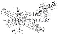 Передняя ось, конических передач (II) на YTO-X1254