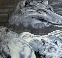 Микрофибровая простынь, покрывало Elway евро Волки