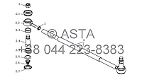 Рулевая Тяга (II) на YTO-X1254