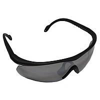 Армейские спортивные очки чёрные с 3 дополнительными стёклами MFH