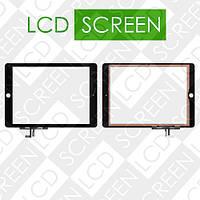 Тачскрин (touch screen, сенсорный экран) для планшета Apple iPad 5 Air, черный, с защитным стеклом