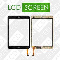 Тачскрин (touch screen, сенсорный экран) для планшета Fly Flylife Connect 7.85 3G Slim, черный, оригинал, 6023