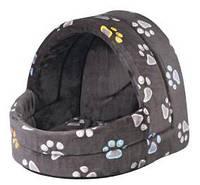 Домик для кота Trixie Jimmy 40*35*35см серый или синий в лапку (36842)