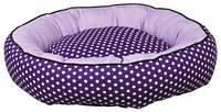 Лежак для кошек  Trixie Lilo фиолетоваый в горошек 40см (37405)
