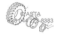 Колесо (Передний Привод) на YTO X1254, фото 1