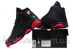 Мужские кроссовки Air Jordan Retro 13 (Black/Red)