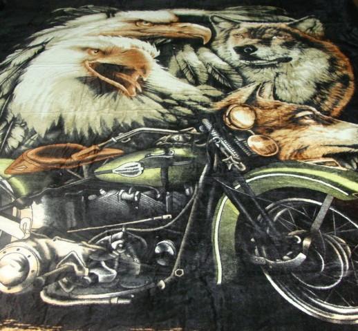 Микрофибровая простынь, плед, покрывало Elway евро Harley