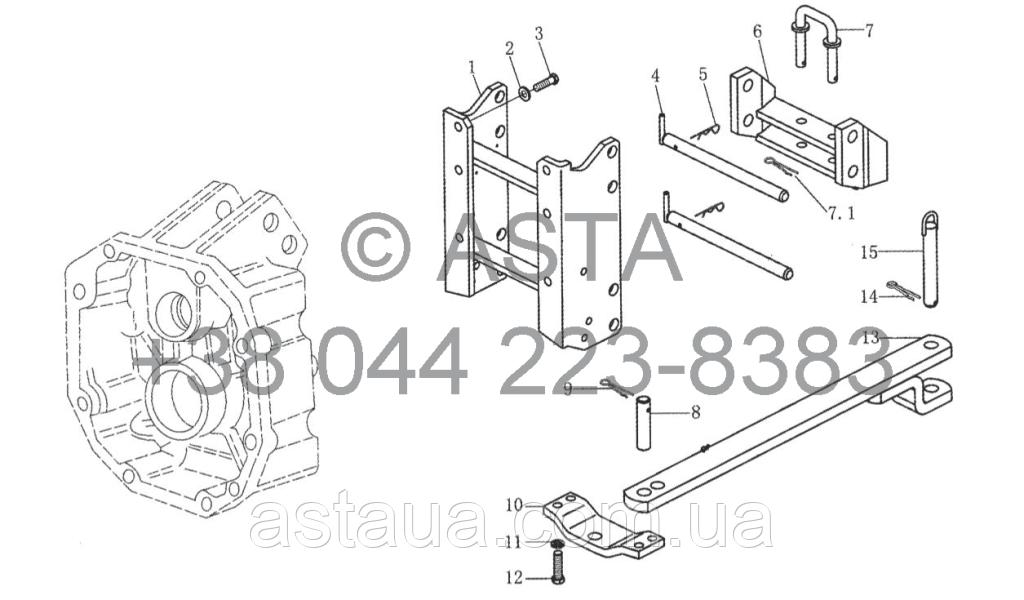 Тяговая и опорная рама на YTO X1254