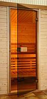 Стеклянные двери Saunax Classic 59x189 (бронза)
