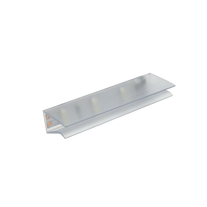 Светильник LED клипса для подсветки стеклянных полок ZETA LINE прозрачный теплый белый