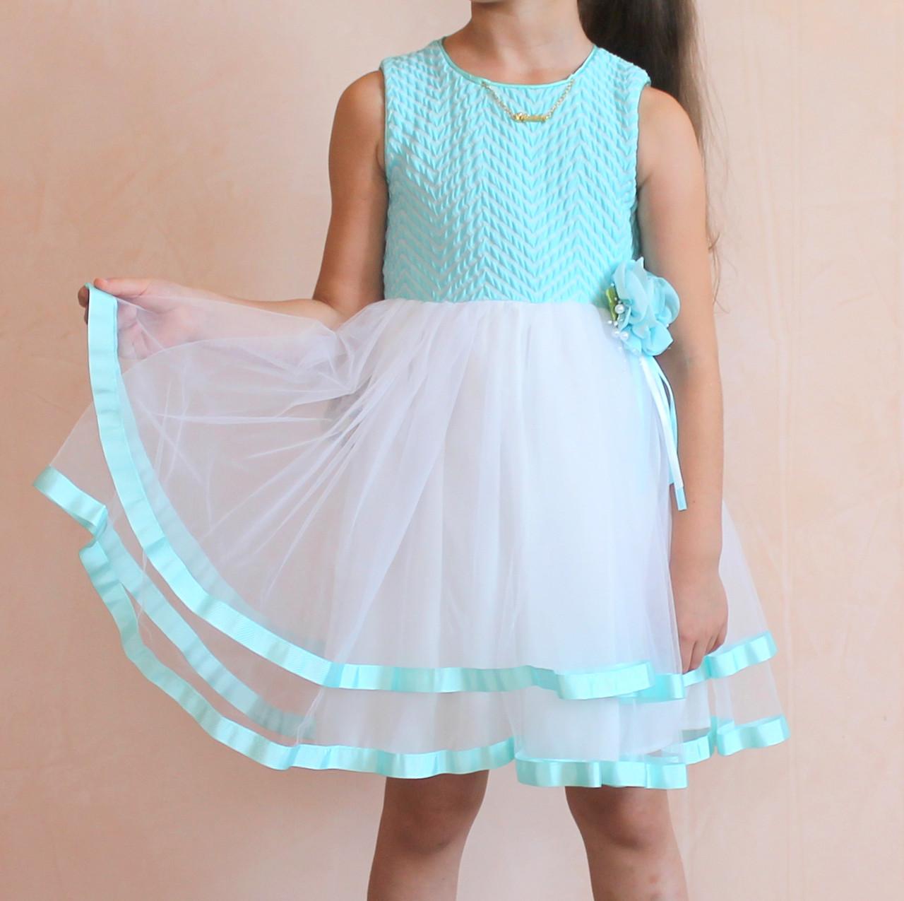 dbb29163c72 Детское нарядное платье для девочки Фатином размер 5-6-7-8 лет -