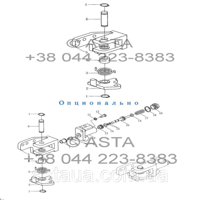 Блокировка дифференциала на YTO X1254
