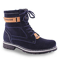 Удобные женские ботинки (замшевые, на шнуровке, Тимберленд, удобная подошва, зимние)