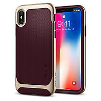 Чехол Spigen для iPhone X Neo Hybrid, Burgundy, фото 1