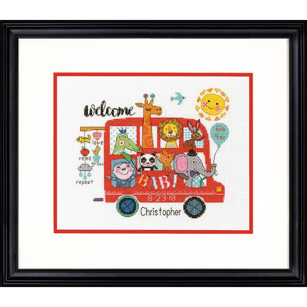 Набор для вышивания крестом Ребенок на борту/Baby on Board DIMENSIONS 70-75534