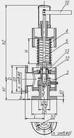Клапан Т-32мс-2,Ду-80,  Ру-1,8-2,8МПа,Т-425С