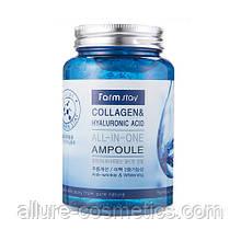FARM STAY Сироватка з колагеном і гіалуронової кислотою Collagen & Hyaluronic Acid All In One Ampoule