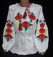 Вышиванка женская с маками, фото 1