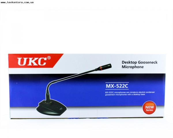 Микрофон настольный MX522C гусиная шея + подставка