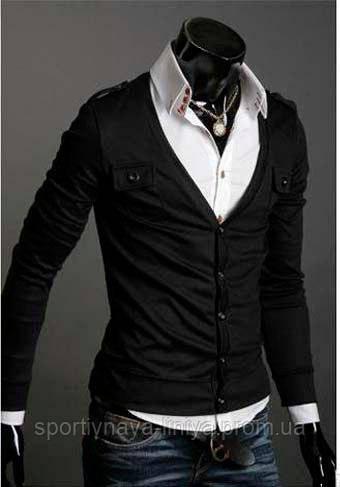 Мужской черная кардиган