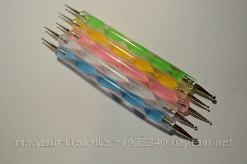 Дотс для дизайну нігтів (пластик, дерево) 1 шт