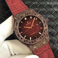 Часы Hublot Classic Fusion Fuente King Gold LE Red 45mm. Реплика класс: VIP