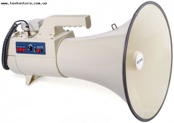 Громкоговоритель - мегафон ручной, наплечный BERG MC-45