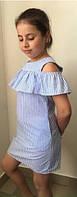 Детское стильное льняное платье баска, фото 1