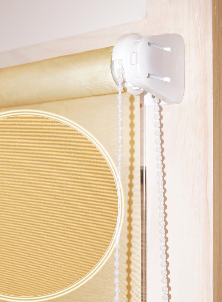 """Тканевые ролеты """"Сатин"""", ширина 42,5 см, цвета персик, песок, лимон, ваниль, св. коричневый"""